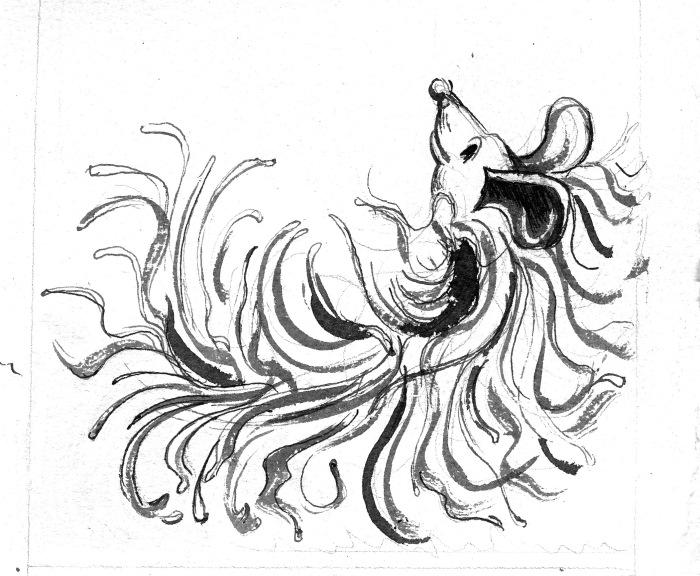 Mop dog BW